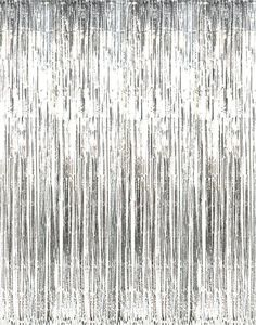 SUNBEAUTY Big 3ft x 8ft Fringe Foil Curtain Party Tinsel Backdrop Party Wedding…