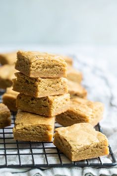 Blondies are like a brownie without the chocolate: Sweet, golden, and buttery, these easy bars are made with just 6 simple ingredients (7 if you add love). Butterscotch Blondies, White Chocolate Blondies, White Chocolate Chips, Dessert Bars, Dessert Recipes, Mexican Desserts, Bar Recipes, Drink Recipes, Dinner Recipes