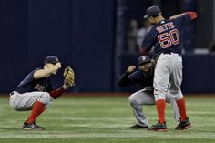 The Red Sox won 2-1 over the Rays and Mookie Betts went 3-for-3 with three singles and one walk. The AL MVP candidate then did the Carlton dance out in the outfield.