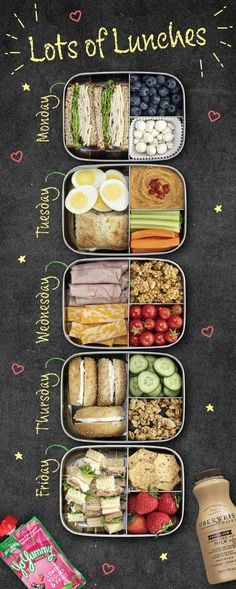 Easy Healthy Meal Prep, Good Healthy Recipes, Healthy Snacks, Easy Meals, Lunch Meal Prep, Weekly Meal Prep, Meal Prep For Work, Meal Prep Plans, Cooking Recipes