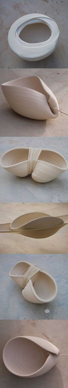 MAYA BEN DAVID is an industrial designer from Israel whose recent works in ceramic include elements of textiles. http://mocoloco.com/art/archives/005966.php: