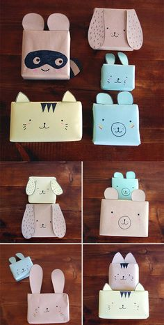 DIY animals gift wrapping // fun for the kid's gifts