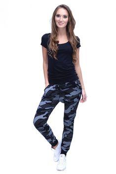 Moderné dámske tepláky maskáčové Moda Xl, Harem Pants, Sweatpants, Plus Size, Fashion, Moda, Harem Trousers, Fashion Styles, Harlem Pants