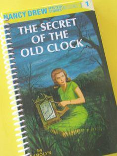 NANCY DREW Mysteries book journal notebook by PortElizabethVillage