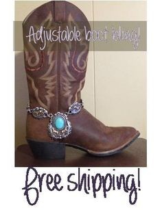 Adjustable boot bracelet, boot bling, cowboy boot charms, boot jewelry - accessorize your boots - Horse Lover. $21.99, via Etsy.