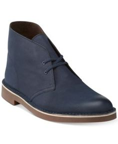 Clarks Men's Bushacre 2 Chukka Boots - Blue 11.5W