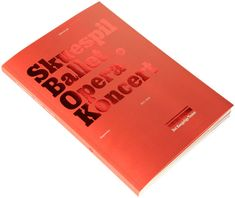 Saddle Stitch Booklet with Red Metallic Foil Stamping