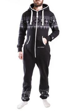 ▪️ NORDIC BLACK ONESIE ▪️ Your Style, Onesies, Jumpsuit, Unisex, Collection, Black, Women, Overalls, Monkeys