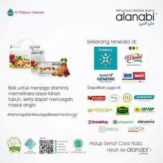 Tetap semangat menjalankan aktivitas hari ini ya Alanabifams!  Kini produk Alanabi® tersedia di Apotek Century, Apotek Generik, 212 Mart, dan DeHalal Mart. . Bisa juga didapatkan melalui Sodaqo Mart, Kita Mart, 411 Mart, Ahad Mart, Watsons, Apotek Roxy, Tiptop, Bukalapak, Tokopedia, Elevenia, Kaskus, Lazada, serta beberapa reseller di berbagai daerah di Indonesia. Rasakan langsung manfaat dan #KehangatanKeluargaBersamaalanabi. . Hidup Sehat Cara Nabi, Hijrah ke Alanabi®!