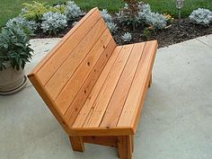 Make Your Garden Nice With The Bench Seating Plans : Wood Plans For Bench