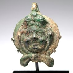 A Roman Bacchanalia Male Applique Head, ca 1st - 2nd century AD