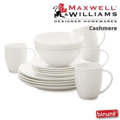 MAXWELL & WILLIAMS CASHMERE Binuns with Maxwell & Williams' fine bone china Cashmere collection makes everyday dining a little more luxurious, and also sets off your table perfectly for entertaining.  http://www.binuns.co.za/en-za/brands/maxwellwilliams/cashmere.aspx