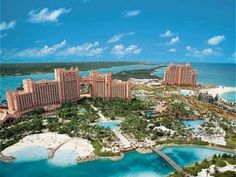 Atlantis Bahamas, I went there over the summer... IT WAS SO AWESOME! I stayed up in a room right next to the bridge:) it was so amazing