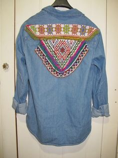 GR Vintage denim beaded shirt.
