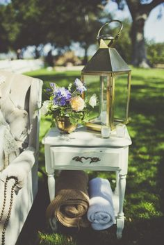 Chic Lounging | Our Favorite Vineyard Weddings (From Real Couples!) | https://www.theknot.com/content/vineyard-real-weddings