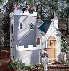 kids castle playhouse wall plans