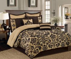 Ideas Decorations Cal King Bedding Sets — New Kids Furniture Bedroom Comforter Sets, Cal King Bedding, Teen Bedding, Queen Size Bedding, Brown Bedding, Gold Bedding, Queen Size Bed Sets, King Size, Cheap Bed Sheets