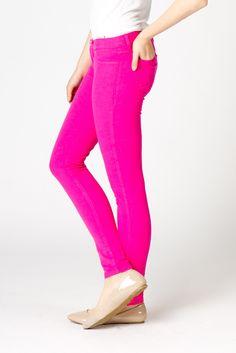 Fuchsia Skinny Jeans | a-thread