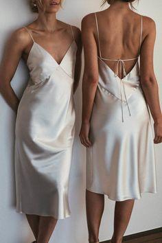 2020 Bridesmaid Dresses Ever Pretty Elegant Black Wedding Guest Dress – dearmshe White Satin Dress, Satin Dresses, Silk Dress, Dress Up, Gowns, Formal Dresses, Summer Dresses, Satin Midi Dress, Party Dresses