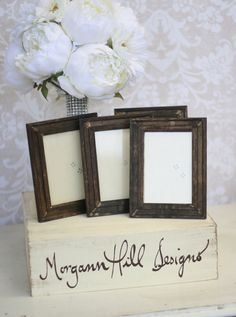 Rustic Wedding Frames Table Number Signs Shabby by braggingbags, $27.99