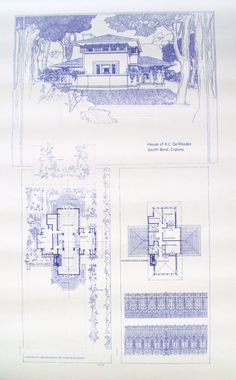 69 best blueprints images on pinterest architectural drawings frank lloyd wright derhodes house blueprint by blueprintplace 1499 architecture malvernweather