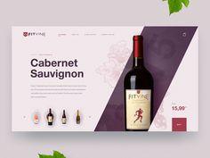 Wine designed by Vadim Melnyk. Connect with them on Dribbble; Food Web Design, Food Poster Design, Wine Design, App Design, Cabernet Sauvignon, Wine Websites, Wine Advertising, Card Ui, Wine Poster