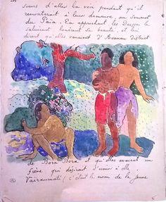 Gauguin Sketches Post Impressionism, Eugène Henri Paul Gauguin, Sketches, Artist Inspiration, Sketch Book, Sketchbook Journaling, Art History, Paul Gauguin, Gauguin Tahiti