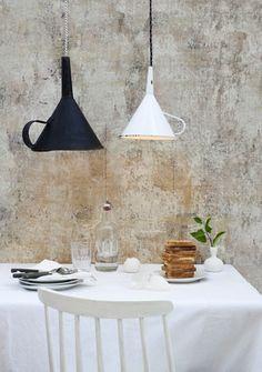 DIY: Keukengerei als verlichting (trechter)