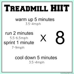 35 minute treadmill HIIT workout