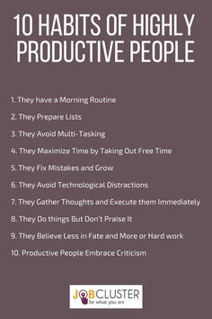 10 Emerging Habits Of Highly Productive People #Productive #Habits  #successful