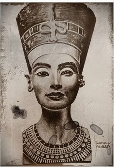 queen nefertiti tattoo drawing - Cerca con Google