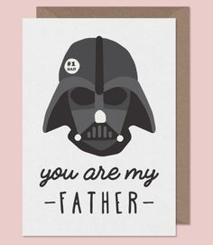 Star Wars Father's Day Card #fathersday