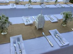 Rustic decor centerpieces and place settings