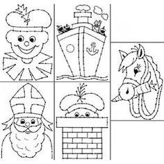 Borduurkaarten Sint en Piet
