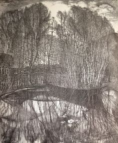 Nickireev Stanislaw I Etching Painting Prints, Painting & Drawing, Art Prints, Landscape Art, Landscape Paintings, Tree Paintings, Vintage Illustration, Etching Prints, Nature Drawing
