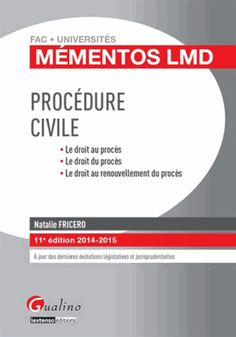 Procédure civile 2014-2015 11e édition