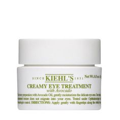 I use Kiehl's Creamy Eye Treatment morning and night
