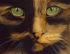 Cat Portrait Custom Commissioned  Pet Painting 11 x 14 by Challand,