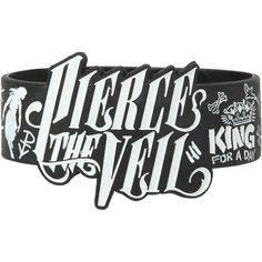 Pierce The Veil Die-Cut Drawings Rubber Bracelet Hot Topic ($15) ❤ liked on Polyvore featuring jewelry, bracelets, accessories, rubber bracelets, rubber jewelry, rubber bangles and white jewelry