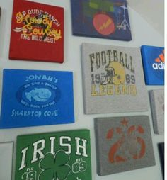 T shirt art (DYI)...be cute for my son doing his fav tee year after year.