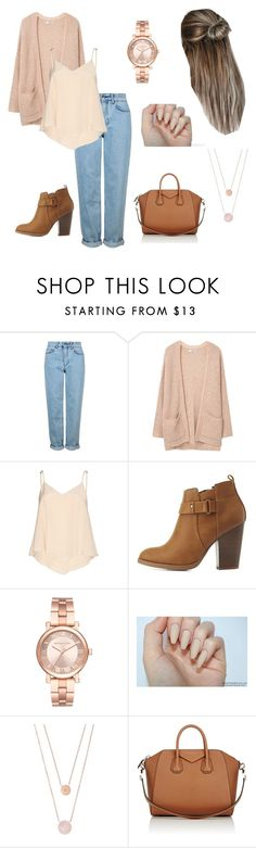 """preppy. winter evening."" by allysonherrera ❤ liked on Polyvore featuring Topshop, MANGO, Alice + Olivia, Delicious, Michael Kors and Givenchy"