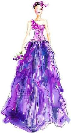 purple gown <3