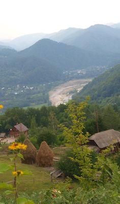 Carpatian mountings village in W Ukraine ,Поєднання надчудове:  Сонце, річка і ліси,  Синє небо, жовте поле,  Божеволю від краси! from Iryna