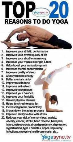 Top 20 Reasons To Do Yoga