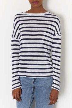 cbdbd5ecb0b Linen Stripe Long Sleeve Tee - Tops - Clothing