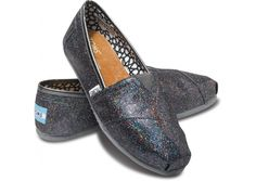 TOMS Multi Women's Glitters $54.00.  Love that a child in need receives a pair for every pair purchased.  Also like the versatility of this pair in particular - that they would match most things black, brown, grey, navy. ?