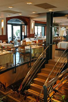 Puerto Cristal Restaurant. Puerto Madero. Buenos Aires, Argentina. Visit Argentina, Argentina Travel, Largest Countries, Countries Of The World, Latin America, South America, Bistros, Most Beautiful Cities, Staircases