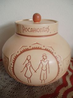 Pocahontas Cookie Jar by Treasure Craft