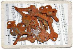 Rusty keys.
