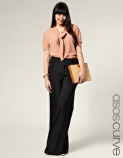 I need more bussiness/casual outfits. I like this look, it's classy and sexy. 86 the clutch-but the pant is ubber chic
